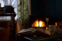 calefacción con chimenea de leña