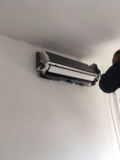 pre-instalación aire acondicionado